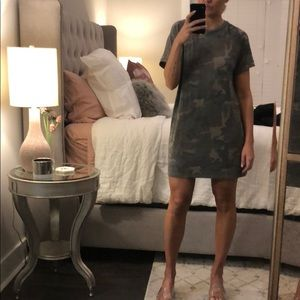 Forever21 knit T-shirt dress in camo print size L